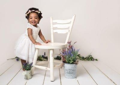 Smiling Toddler Posing - Child Photography