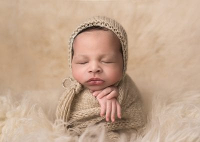 Newborn Baby Wrapped Up Sleeping