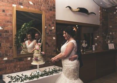 Couples Portraits Cake Cutting Bride and Groom Tianna J-Williams Photography Birmingham