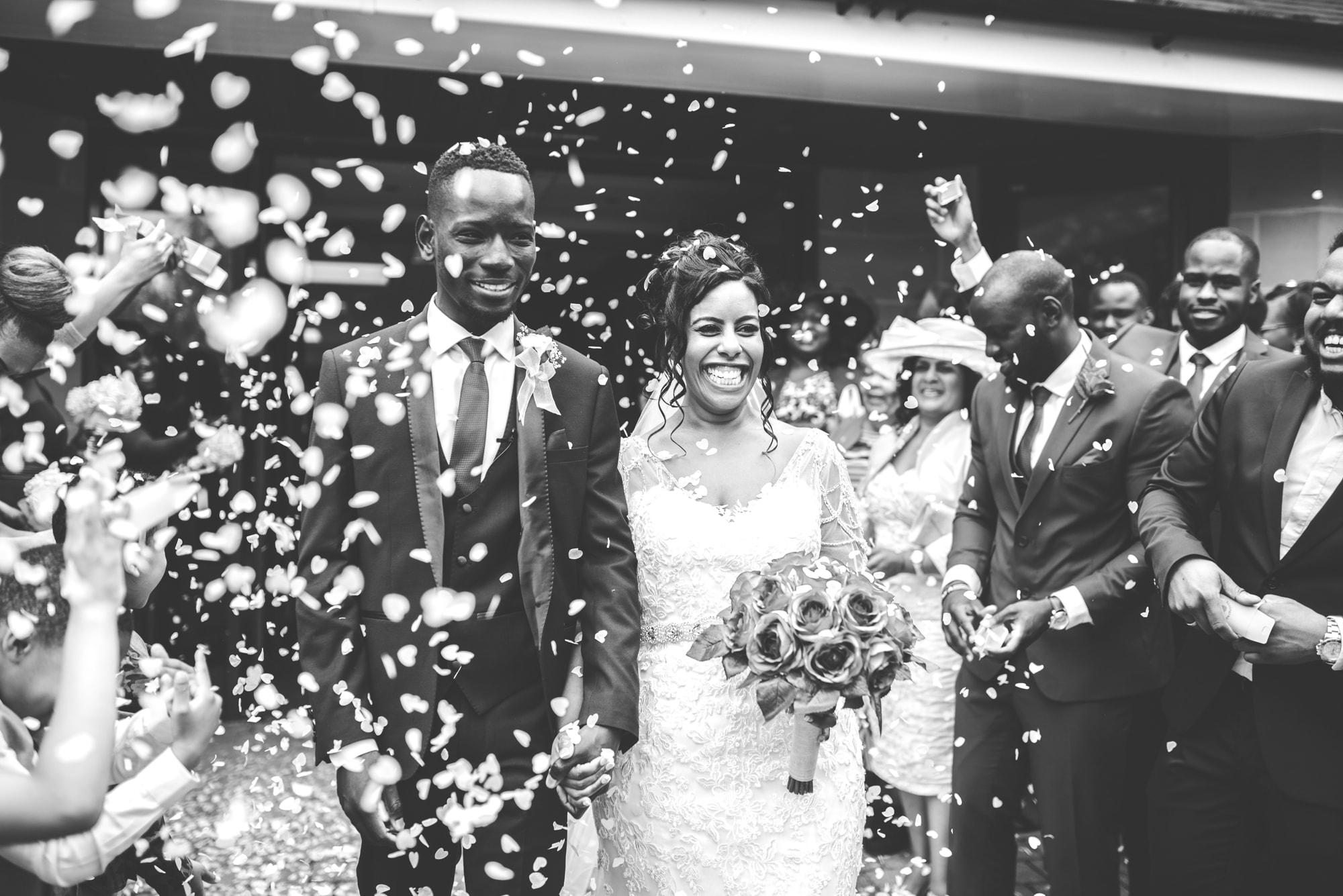 Confetti Shot Tianna J-Williams Wedding Photogtaphy