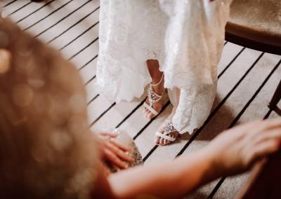Bridal Shoes Castle Wedding Pekforton Castle, Manchester Tianna J-Williams Wedding Photography