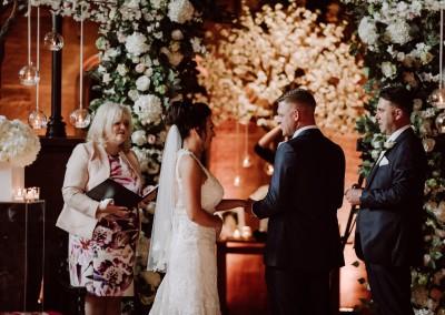 The Wedding Ceremony at Peckforton Castle Manchester, Tianna J-Williams Wedding Photographer