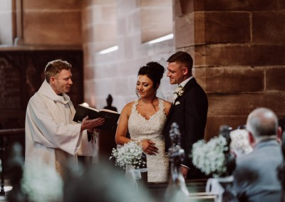 Chapel Blessing Peckforton Castle Manchester Tianna J-Williams Wedding Photograper