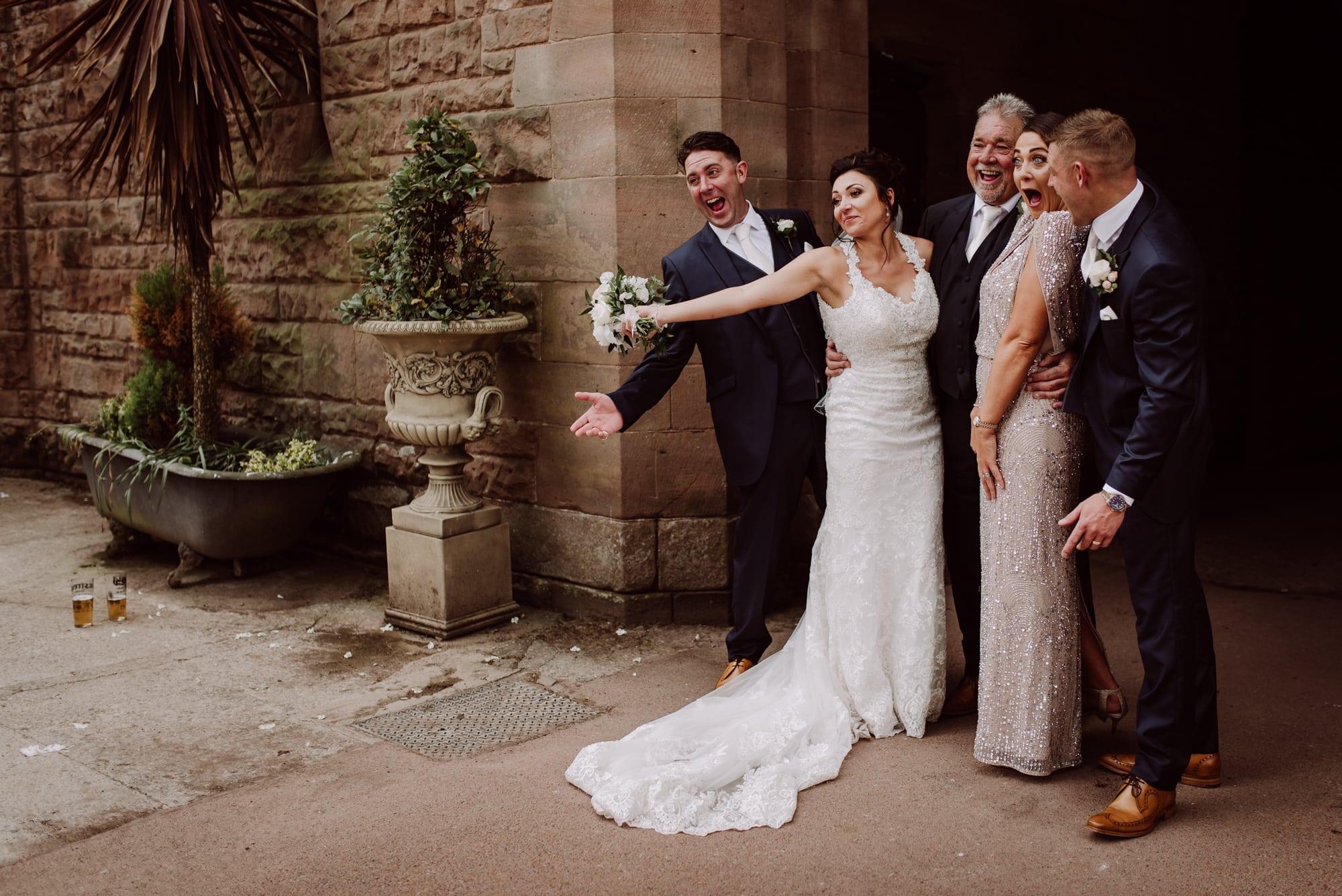 Wedding Party Portraits Tianna J-Williams Photography Peckfurton Castle