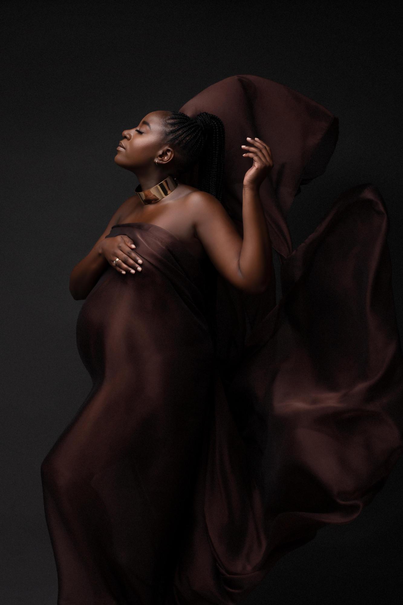 Floating Fabric Maternity Ideas Tianna J-Williams Photography Birmingham