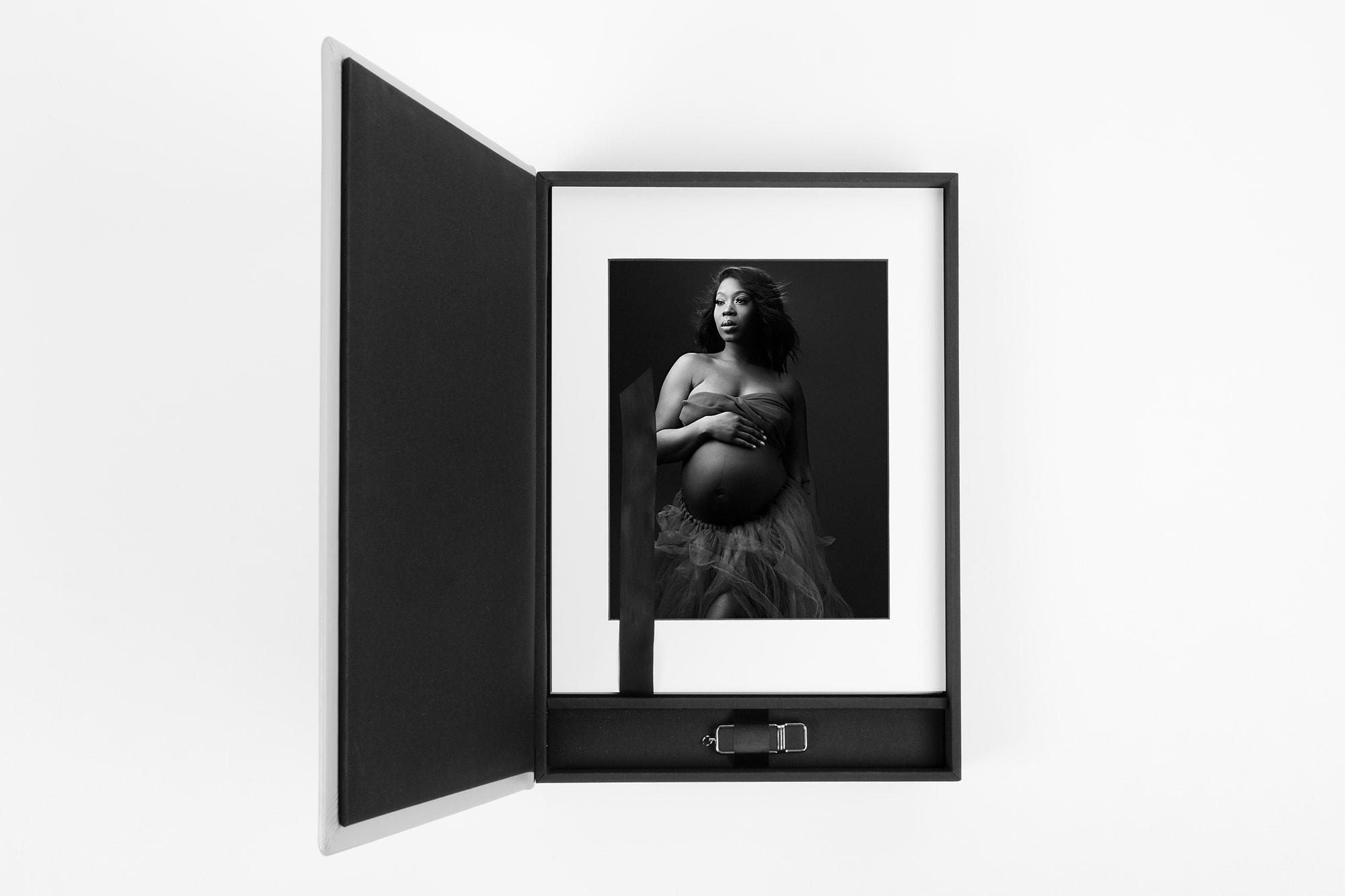 Modern Minimalistic Maternity Folio Box Tianna J-Williams Photography